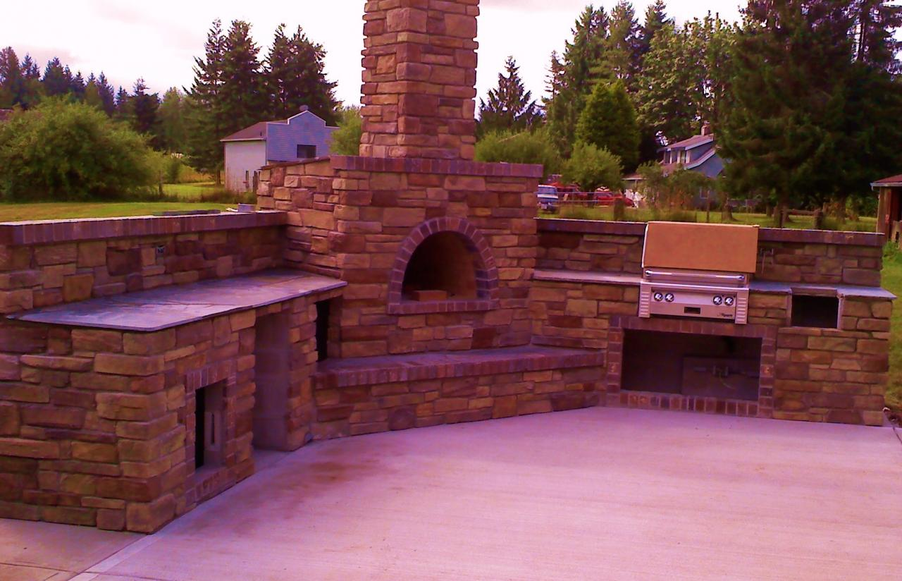Pizza Oven Outdoor Kitchen Samples Masonry Outdoor Kitchens And Barbeques