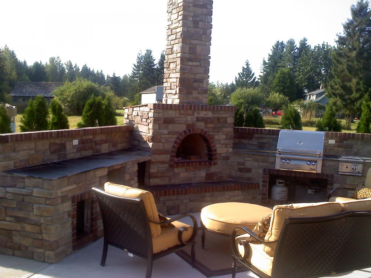 Complete Outdoor Kitchen Samples Masonry Outdoor Kitchens And Barbeques